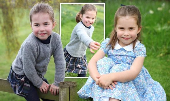 Princess Charlotte birthday photos Kate Middleton and Prince William style her in a dress 1121687