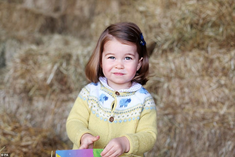 A picture of Princess Charlotte at Anmer Hall in Norfolk in April, in anticipation of her second birthday on May 2