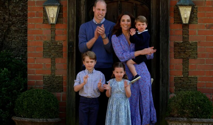 Prince William Kate Middleton and children bake cakes for veterans see photo