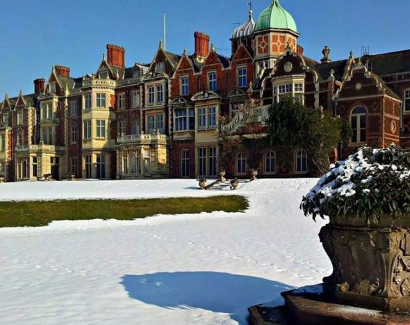 anmer hall norfolk weather snow latest