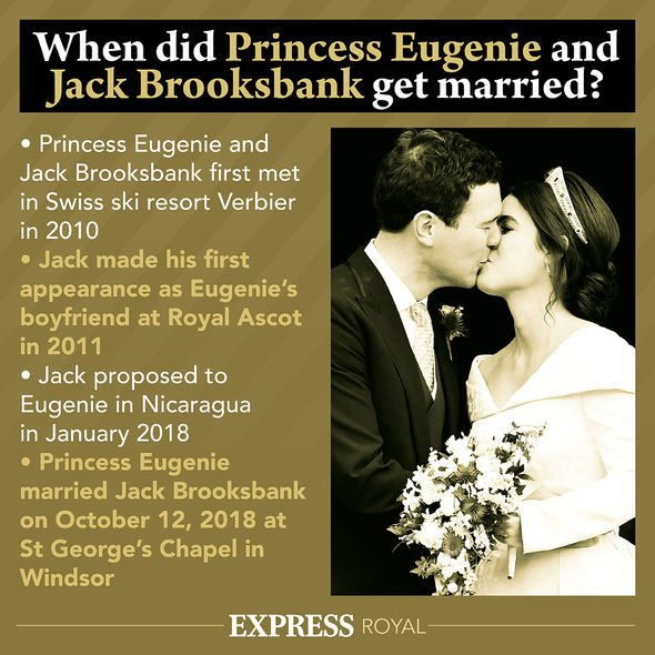 Princess Eugenie tied the knot with Jack in October 2018