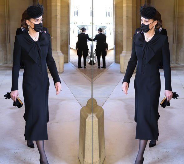 Kate Middleton outfit at Philip's funeral