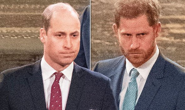 Prince Harry and William: 'Frostiness that was horrible to watch' - brothers ignored one another(Image: GETTY)