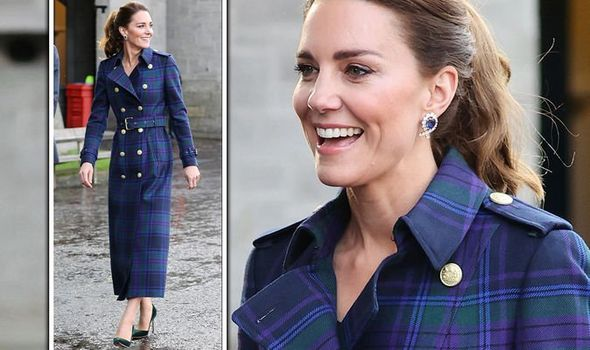 Kate Middleton 'dazzling' in tartan coat and £500 heels - 'sweet nod to Scotland'(Image: Getty)
