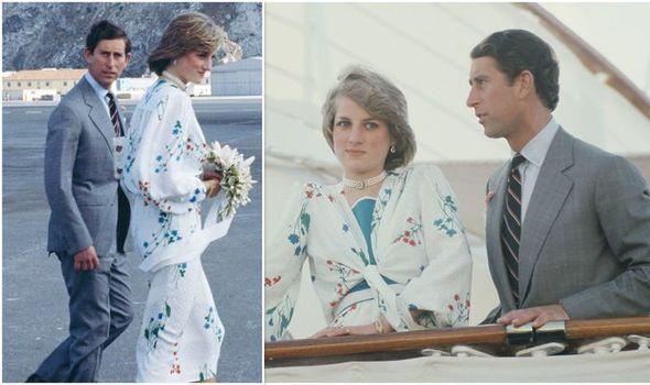 Prince Charles and Diana on honeymoon