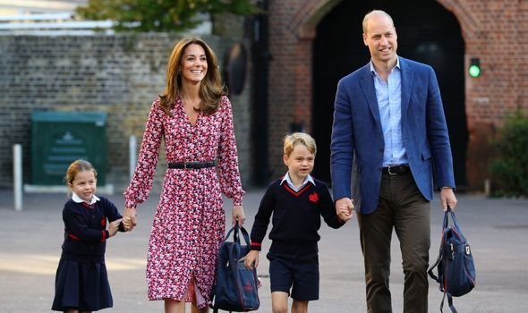 Prince William with his son George and daughter Princess Charlotte(Image: GETTY)