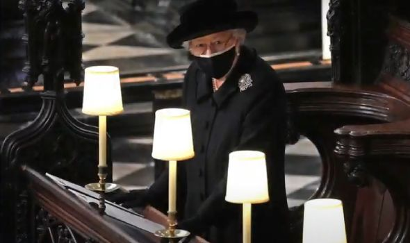 Mr Pierce noted that during Prince Philip's funeral the Queen appeared frail and vulnerable.(Image: Getty)