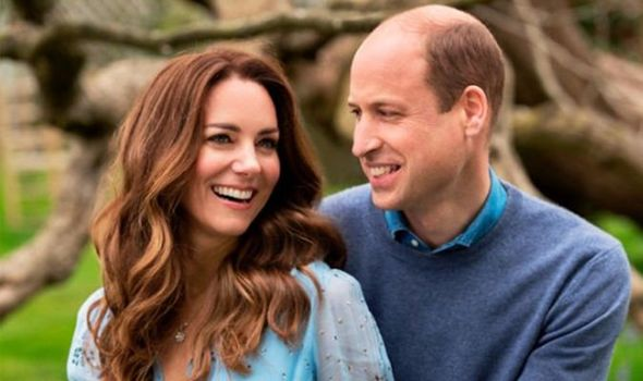 William and Kate pictured in their anniversary photo(Image: CAMERA PRESS)
