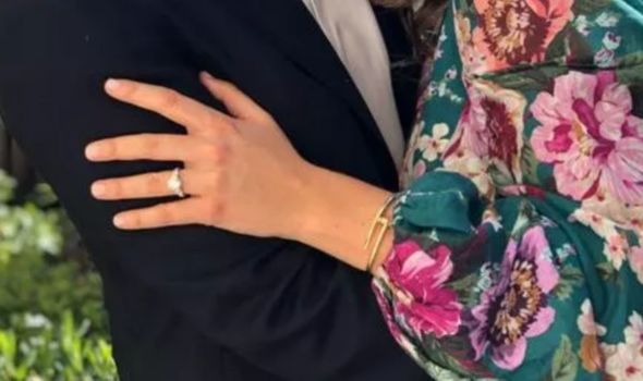 The ring has a platinum band with diamond stones(Image: Twitter/RoyalFamily)