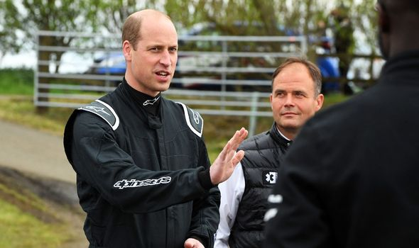 Prince William had visited Knockhill Circuit in Scotland.(Image: GETTY)