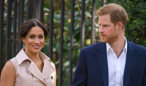 Harry and Meghan were scolded over their title row(Image: PA)