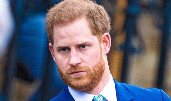 """Prince Harry had a """"lengthy chat"""" with his royal relatives at Philip's funeral(Image: GETTY)"""