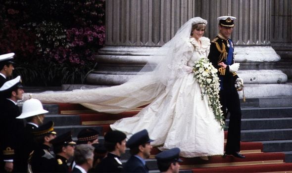 Princess Diana's dress is on display at the exhibition(Image: Getty)