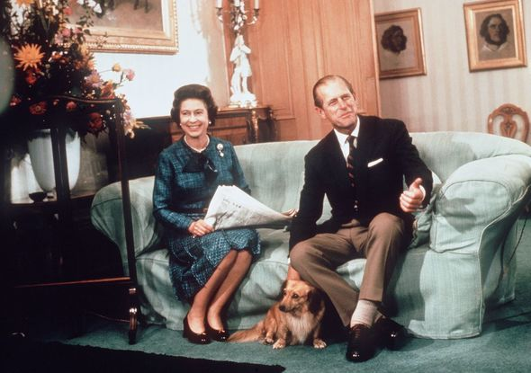 Queen and Philip in Balmoral 1975