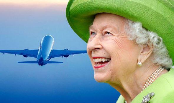 queen elizabeth jet lag