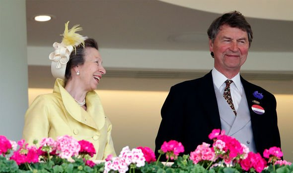 Royal: Anne and her husband, Tim Laurence, at Ascot