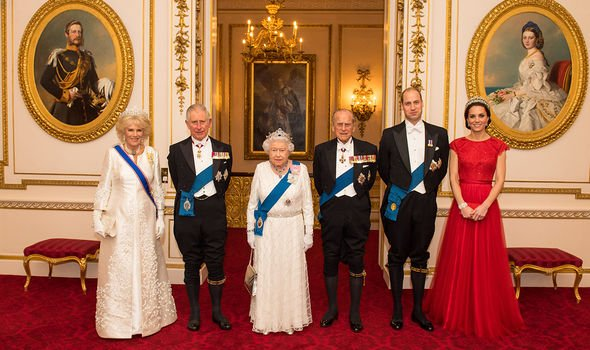 William, Kate, Charles, Camilla, the Queen and Prince Philip