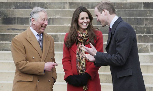 William, Kate and Charles