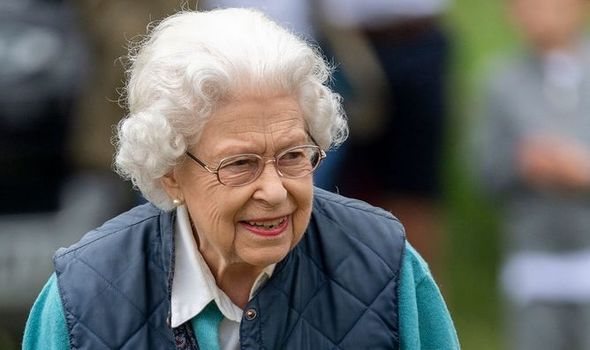 Queen Elizabeth II during the Royal Windsor Horse Show 2021
