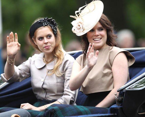 Princess Beatrice with Princess Eugenie