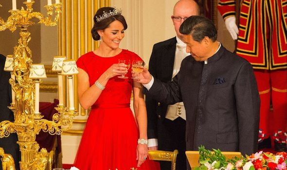 Big occasion: Kate at banquet with President Xi
