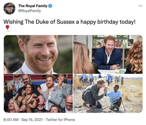 Prince Harry birthday Duke of Sussex Royal Family tribute Meghan Markle latest Queen news