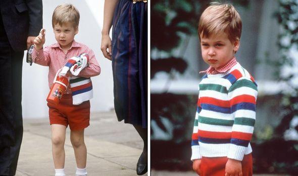 Prince William at nursery school