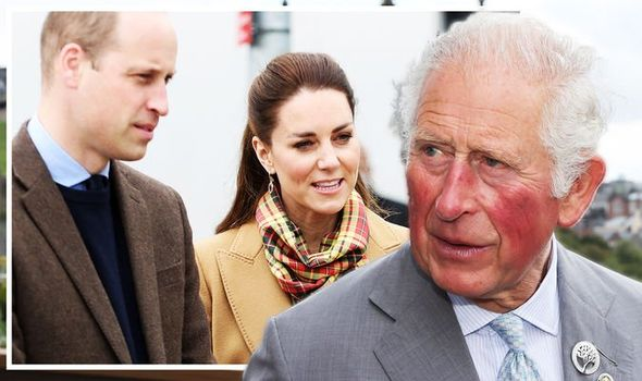 Kate and William with Prince Charles